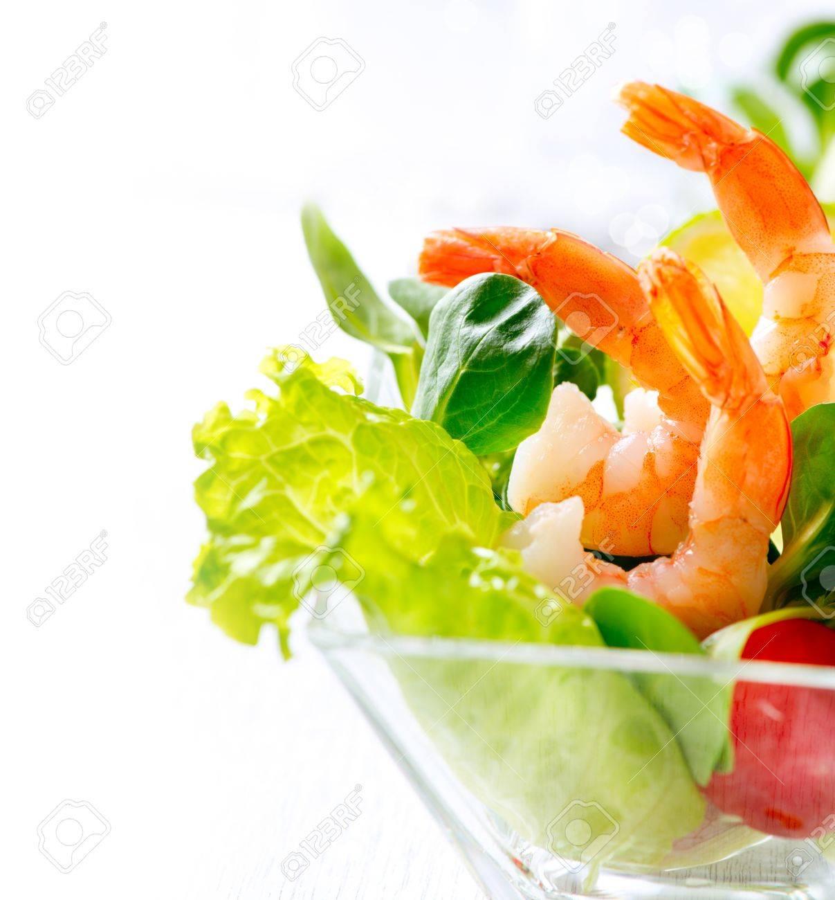 Shrimp or Prawn Cocktail  Isolated on White Stock Photo - 18892663