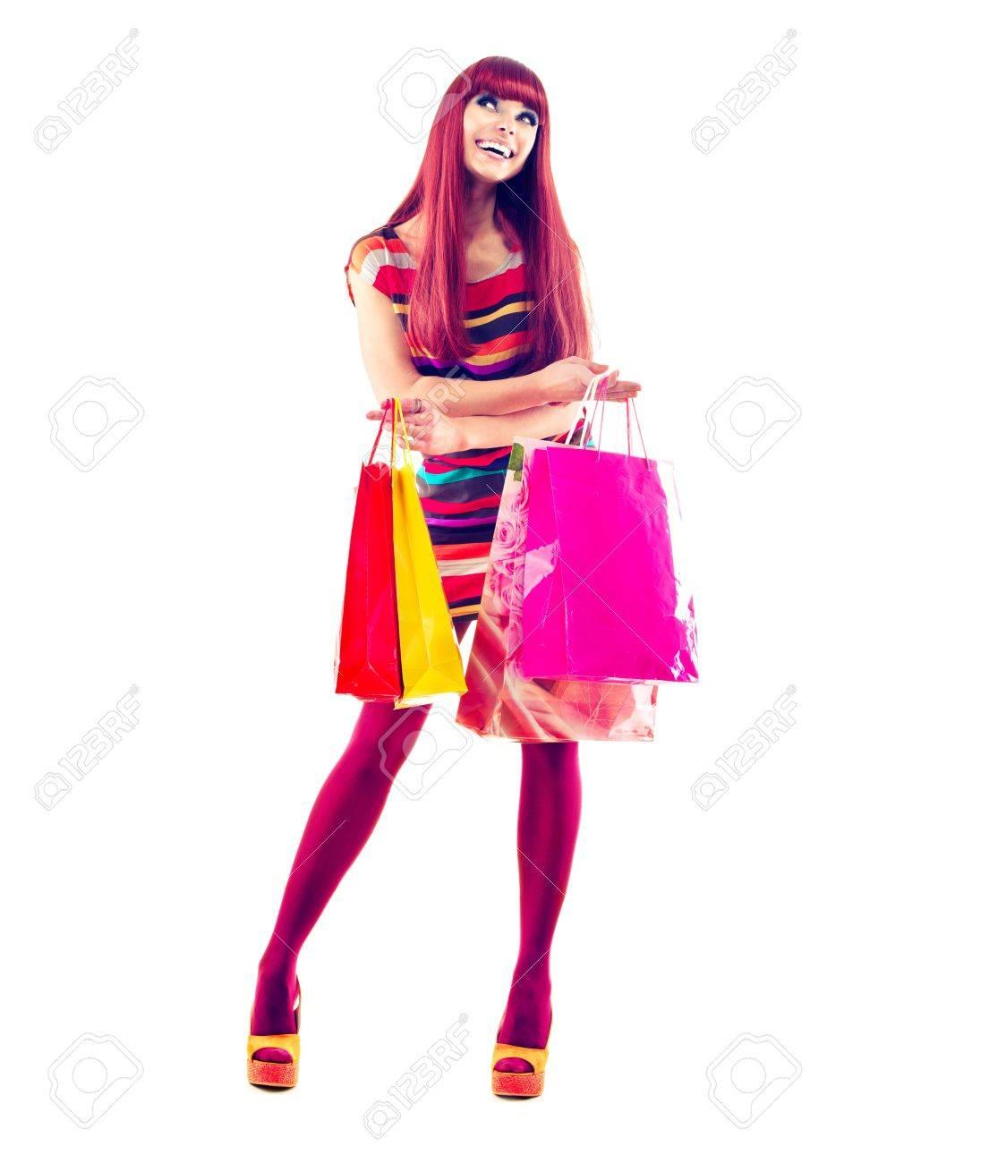 Fashion Shopping Girl full length Portrait Stock Photo - 19135758
