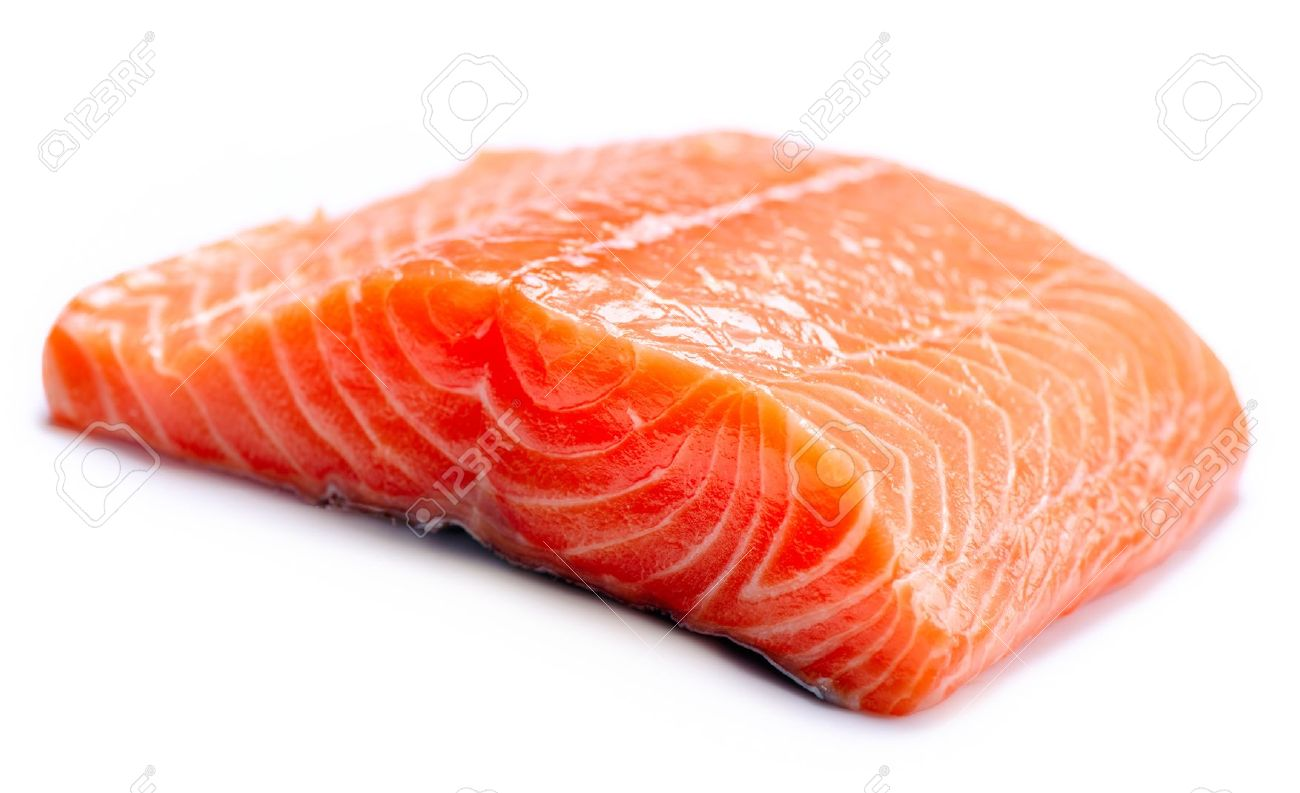 Salmon Raw Fillet  Red Fish isolated on a White Background Stock Photo - 19978701