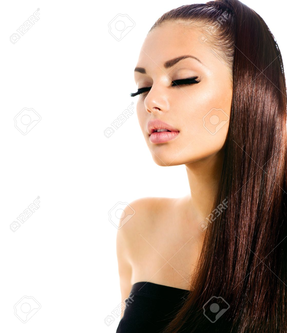 Beauty Fashion Model Girl with Long Healthy Hair Stock Photo - 20793569