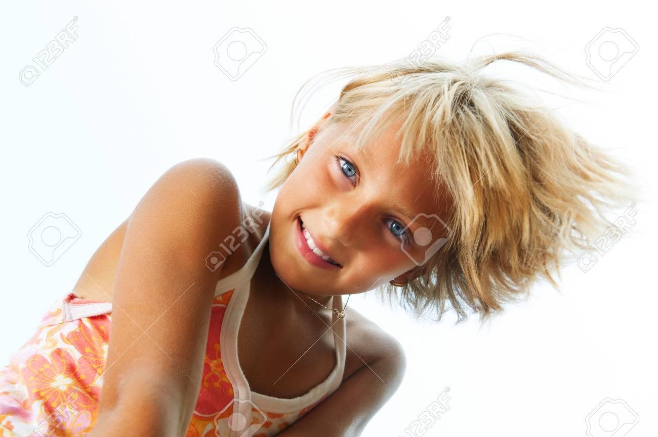 Happy cute little girl having fun outdoor Stock Photo - 30133850