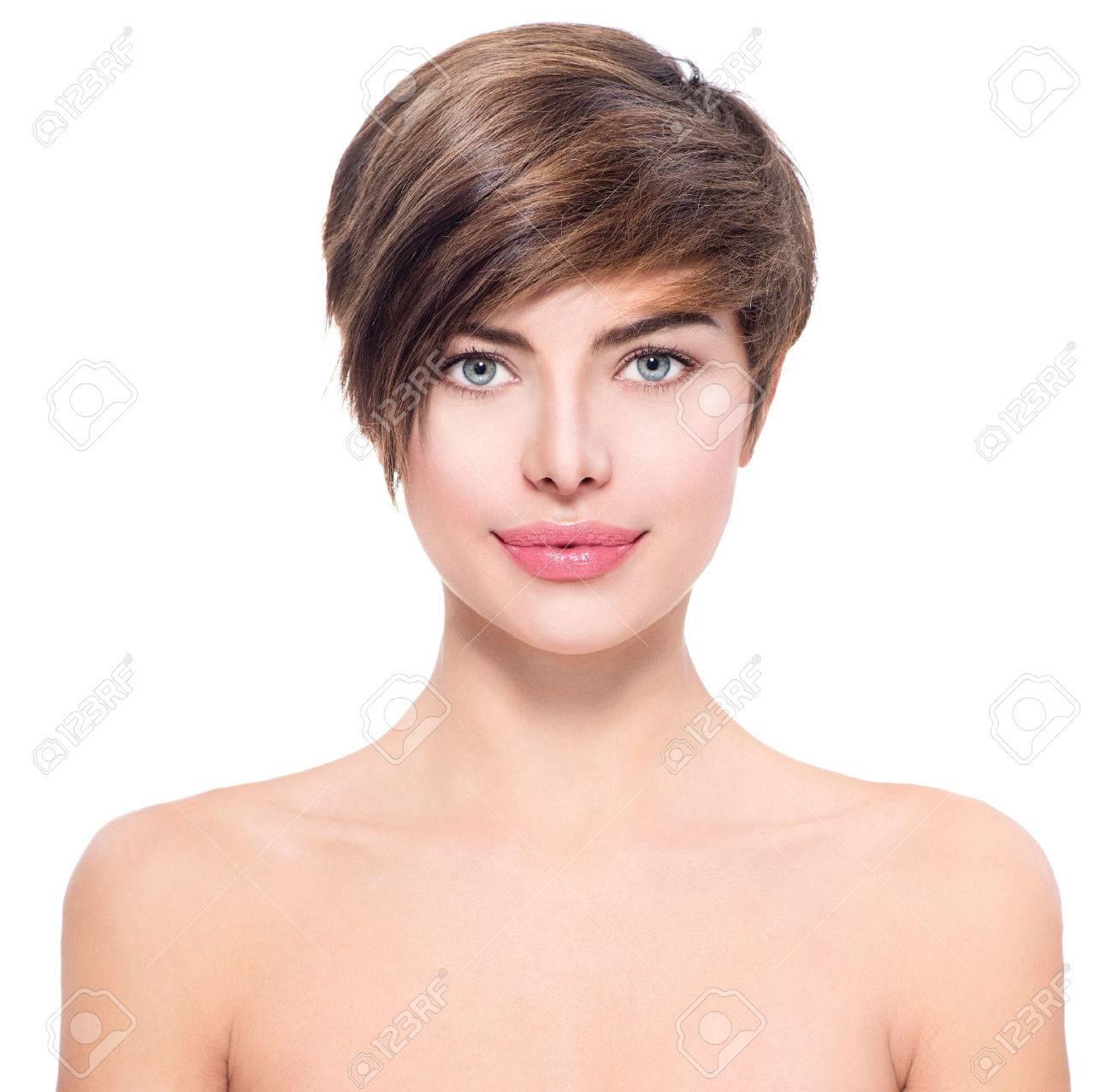 Souvent Femme Cheveux Court Banque D'Images, Vecteurs Et Illustrations  HG95