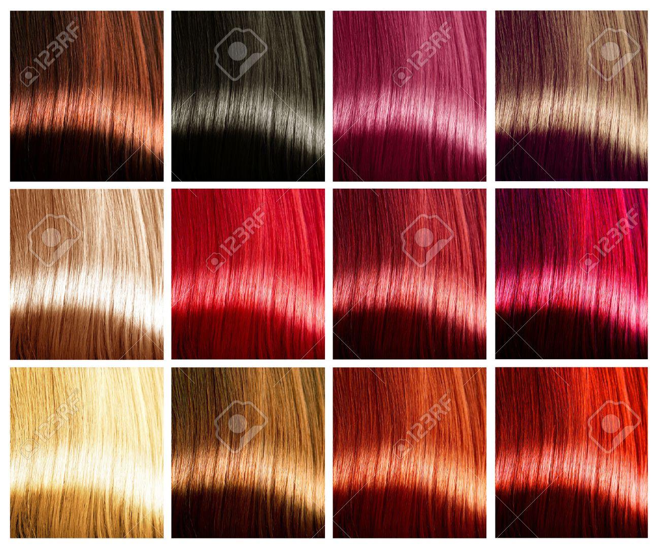 Palette de couleur de teinture cheveux
