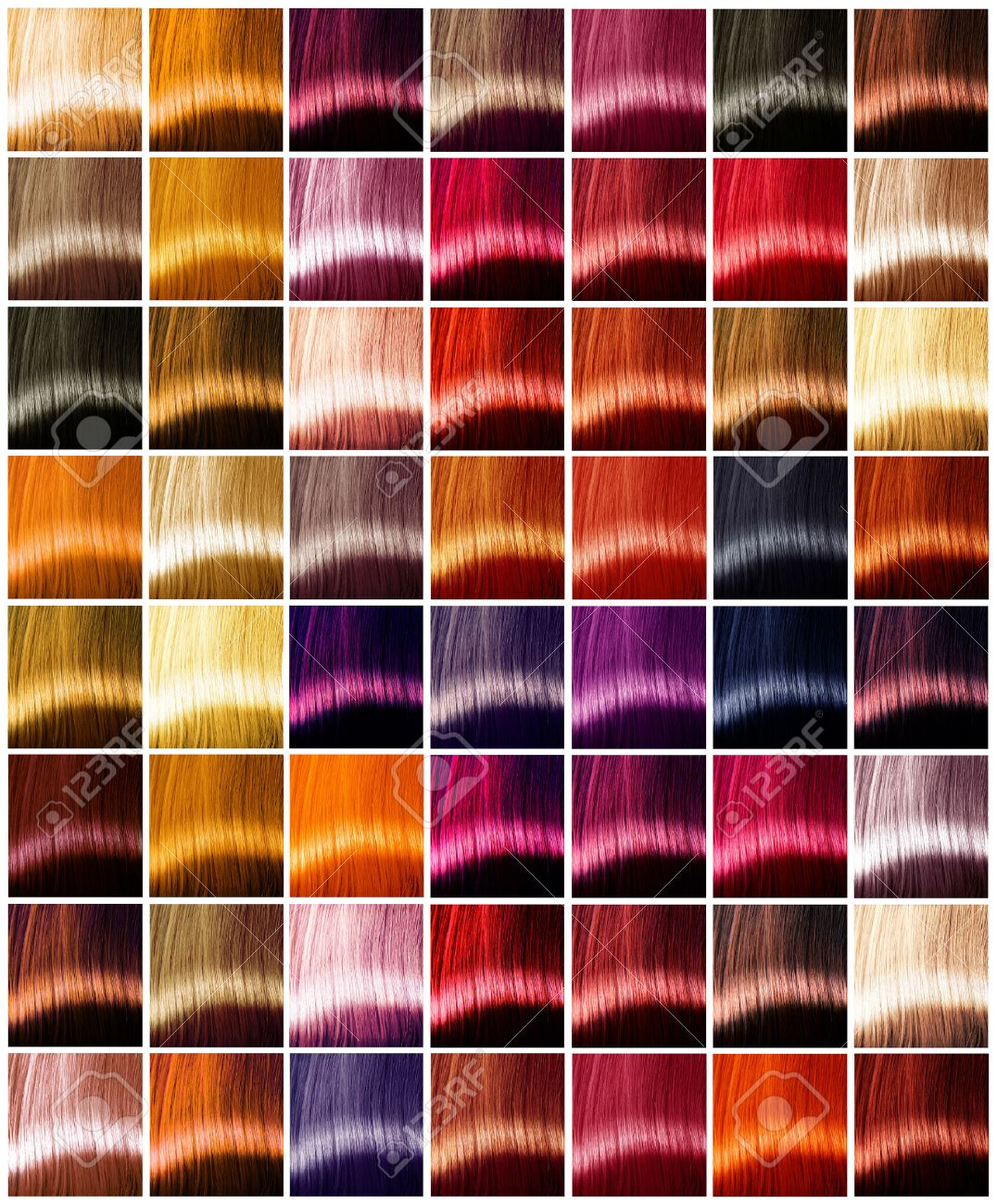 Hair Colors Palette Tints Dyed Hair Color Sample Stock Photo Picture And Royalty Free Image Image 39207640