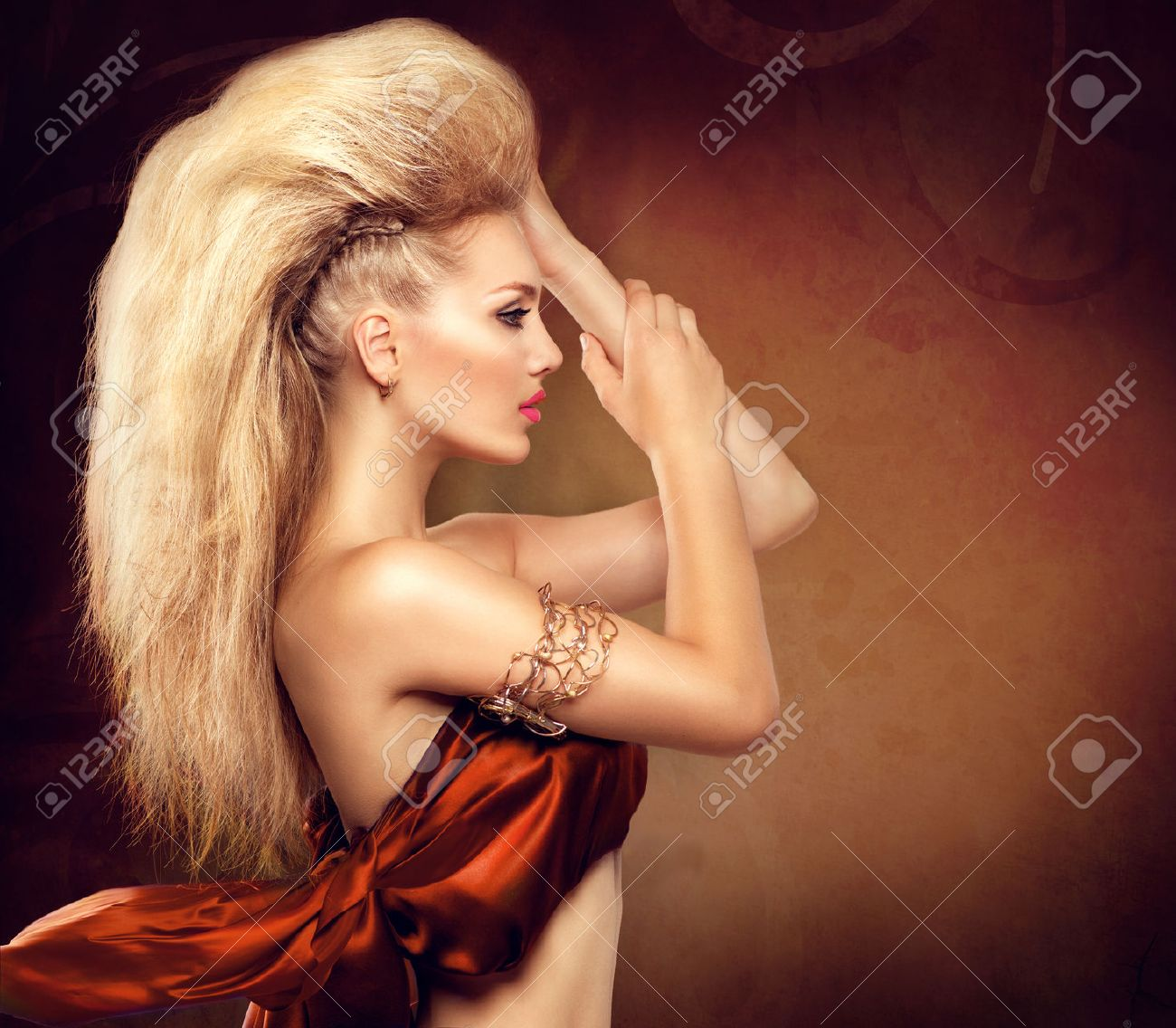 Phenomenal High Fashion Model Girl With Mohawk Hairstyle Stock Photo Picture Short Hairstyles For Black Women Fulllsitofus