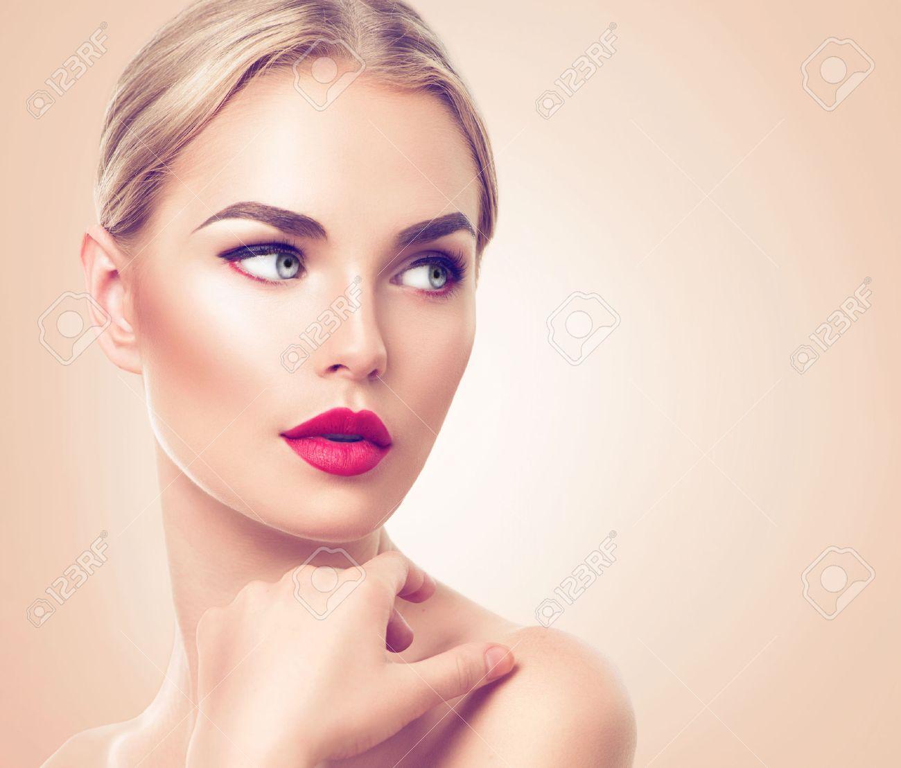 Beautiful Woman Portrait Beauty Spa Woman With Fresh Skin And