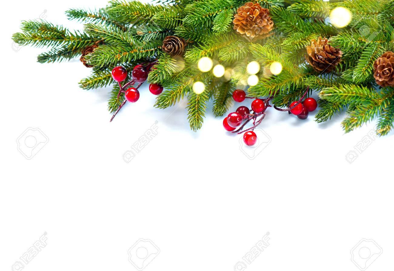 Kerst Achtergrond Decoratieve Kerst Boom Geisoleerd Op Wit Royalty