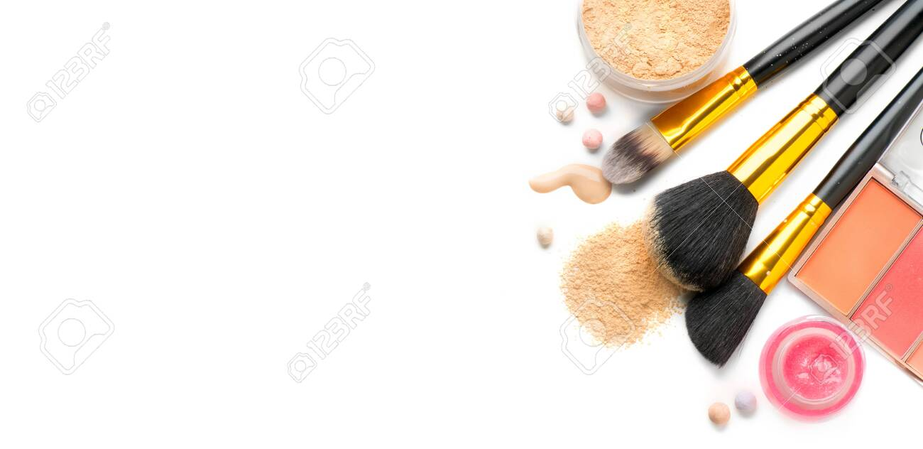 Cosmetic Liquid Foundation Or Cream Loose Face Powder Various Stock Photo Picture And Royalty Free Image Image 137699055