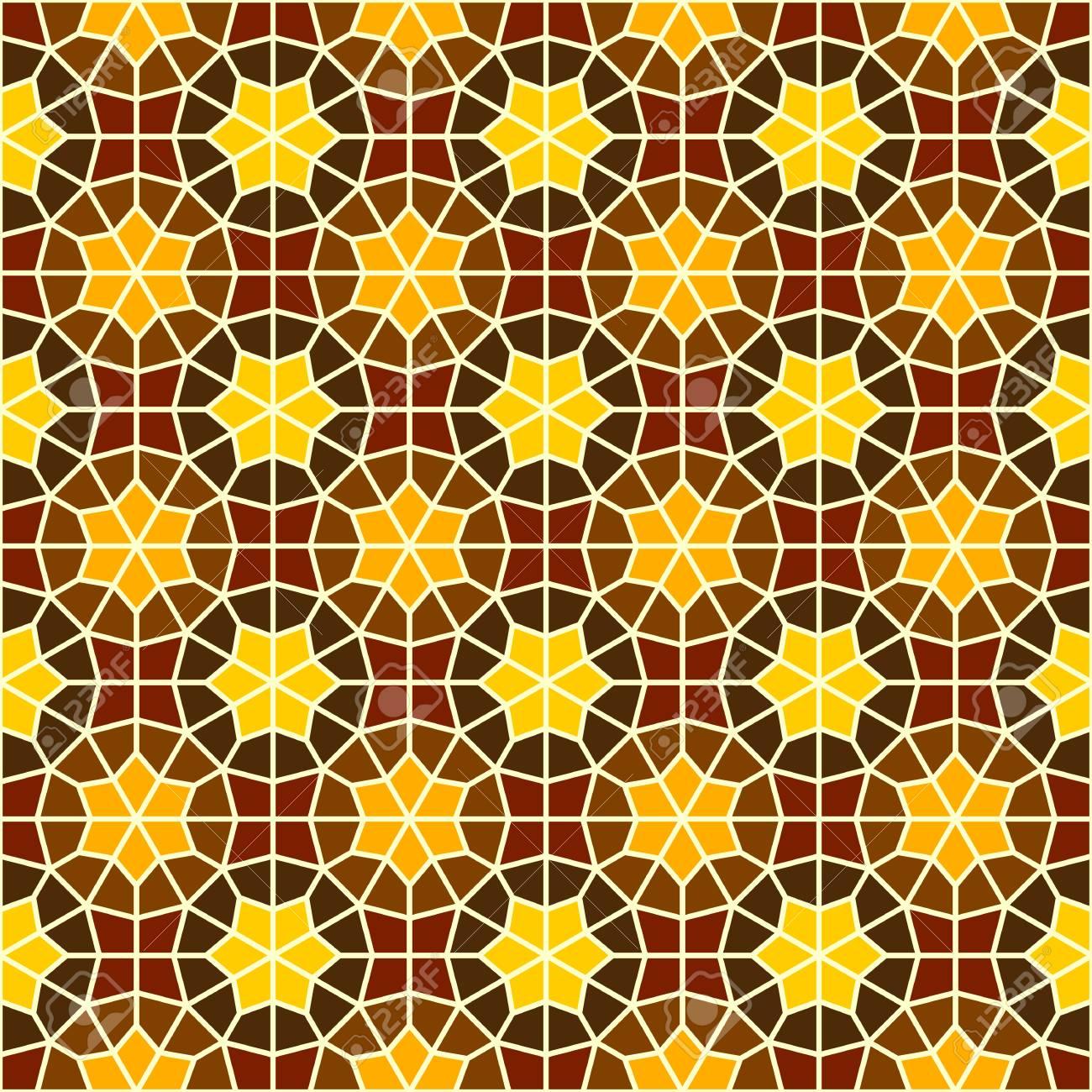 Vector Seamless Ornamental Eastern Pattern. Vintage Oriental ...