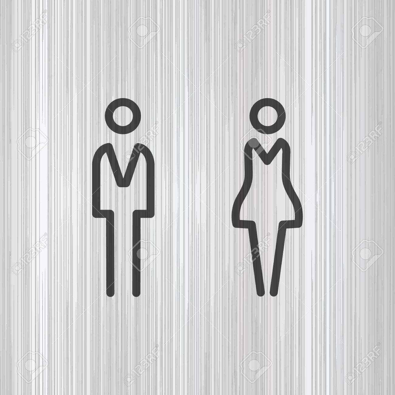 Toilet door / wall plate. Original WC icon. Sign. - 55146006