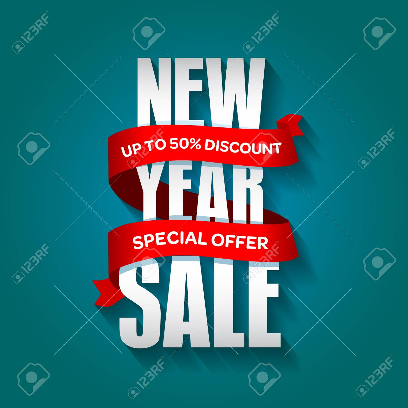 new year sale badge label promo banner template special sale offer text on