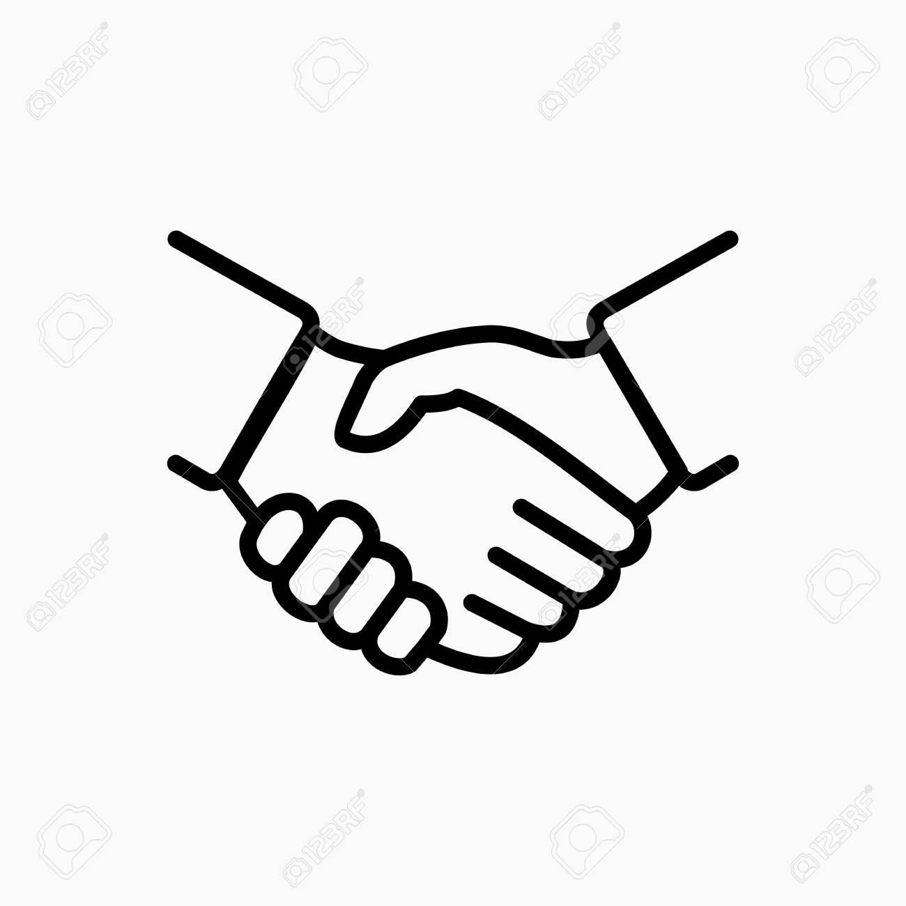 handshake icon simple vector illustration deal or partner agreement rh 123rf com vector handshake free download vector handshake free download