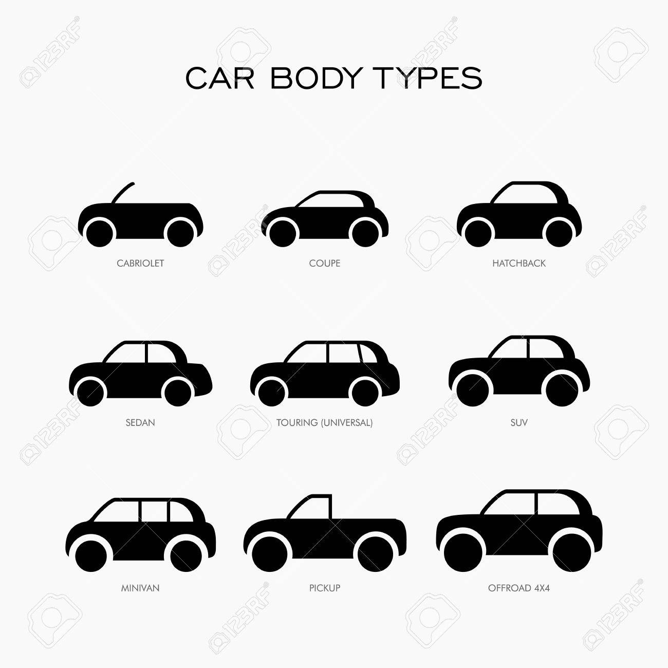 Vehicle Body Types >> Car Body Type Vector Illustration Icon Royalty Free Cliparts