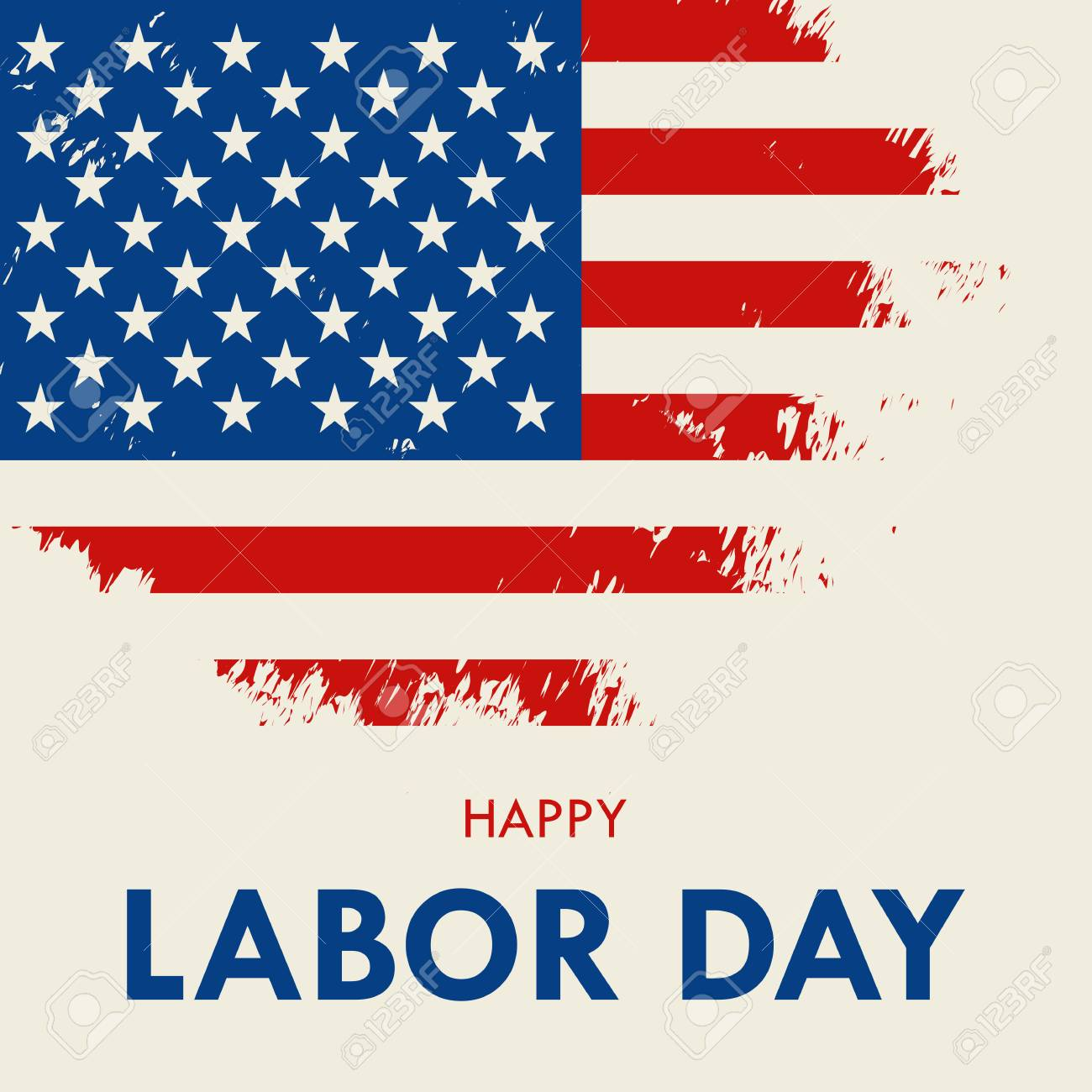 American Labor Day Greeting Card Vector Illustration Royalty Free