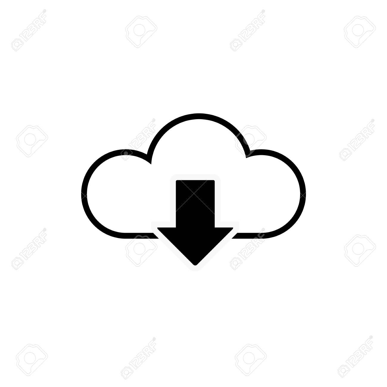 Data cloud icon  Backup and restore sign  Upload to and download