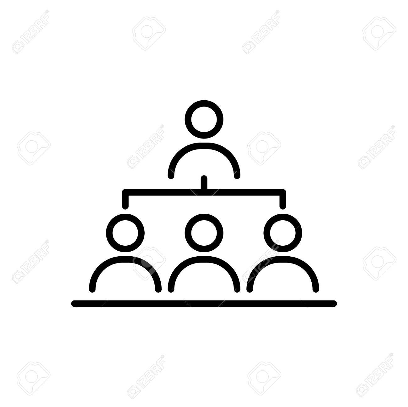 organization structure business people icon simple line flat royalty free cliparts vectors and stock illustration image 94294223 organization structure business people icon simple line flat