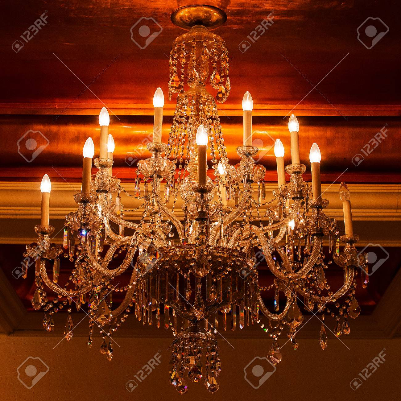 Elegant crystal chandelier stock photo picture and royalty free elegant crystal chandelier stock photo 24594599 arubaitofo Choice Image