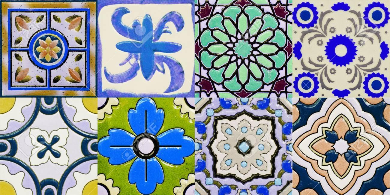 Portugais Motif Floral Carreaux en céramique