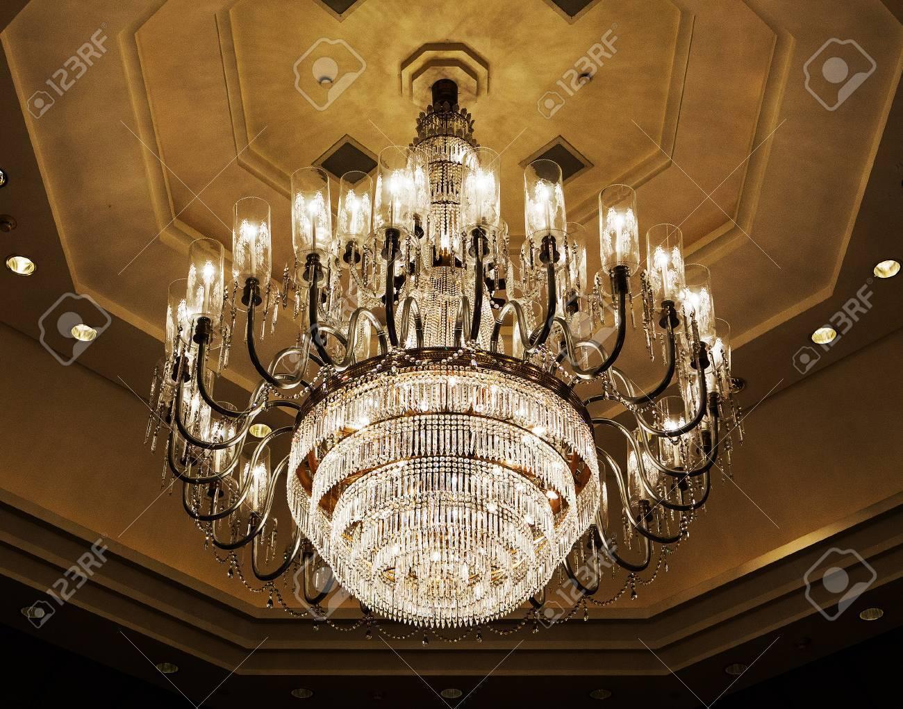 Elegant crystal chandelier stock photo picture and royalty free elegant crystal chandelier stock photo 33969317 arubaitofo Choice Image