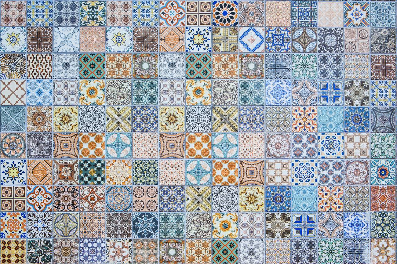 Ceramic Tiles Patterns From Thailand Stock Photo, Picture And ...