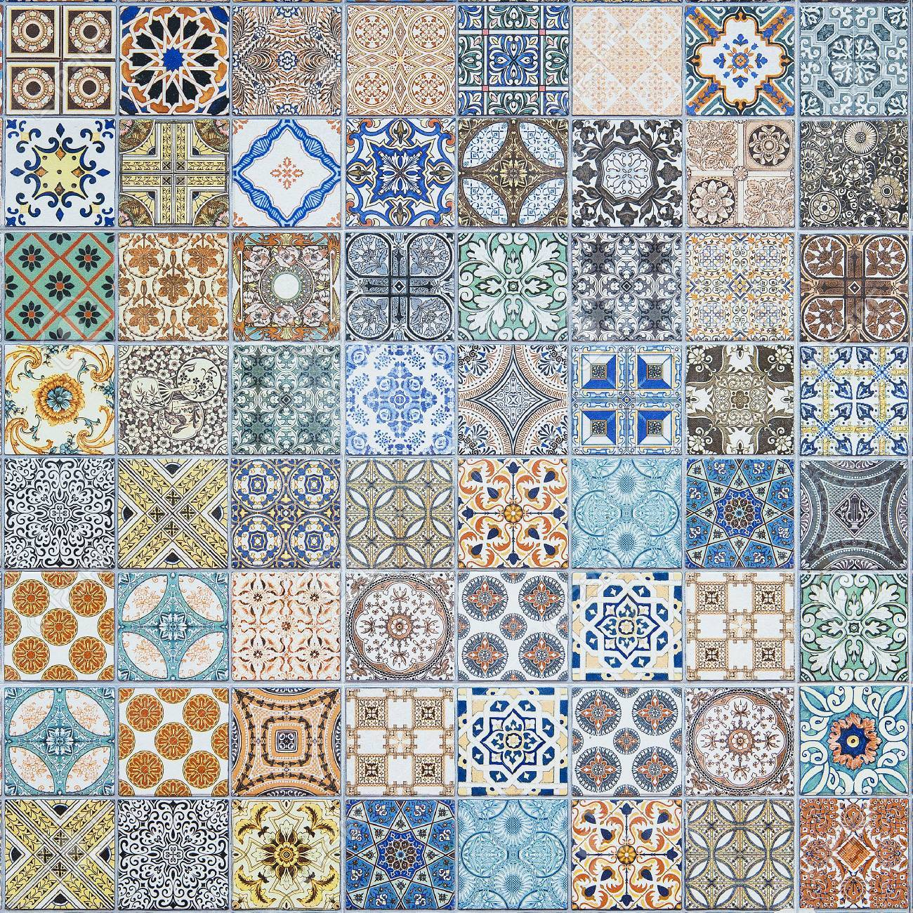 Ceramic Tiles Patterns From Portugal. Stock Photo, Picture And ...