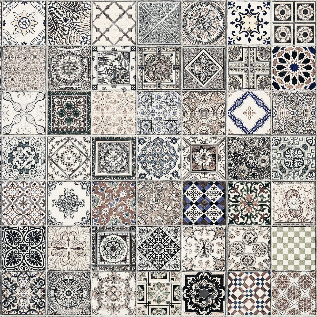 Ceramic tiles patterns from portugal stock photo 50250679