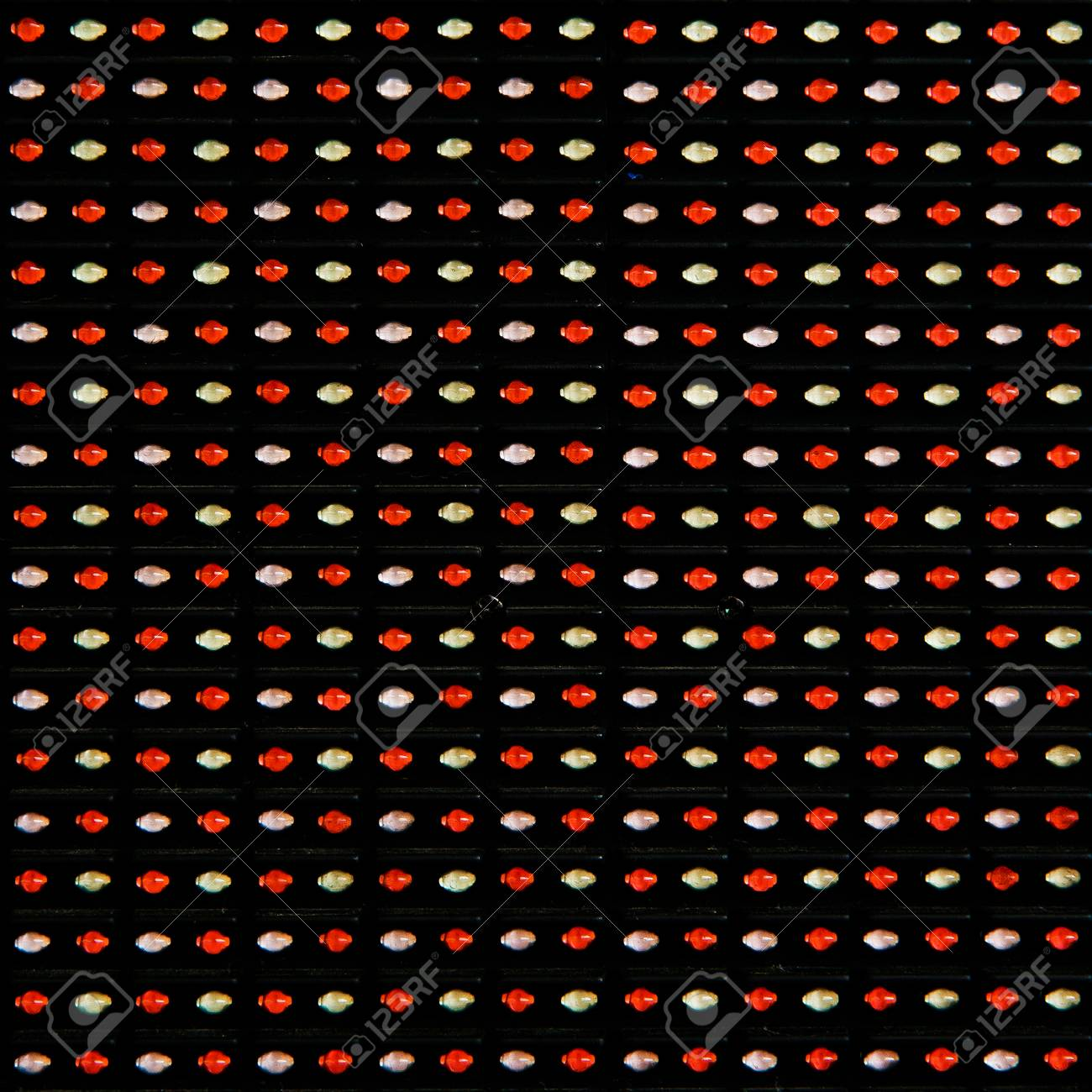 RGB led diode display panel  Selective focus  Shallow depth of