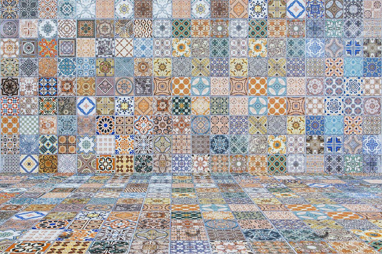 Floor And Wall Tiles Vintage.ceramic Tiles Patterns Stock Photo ...