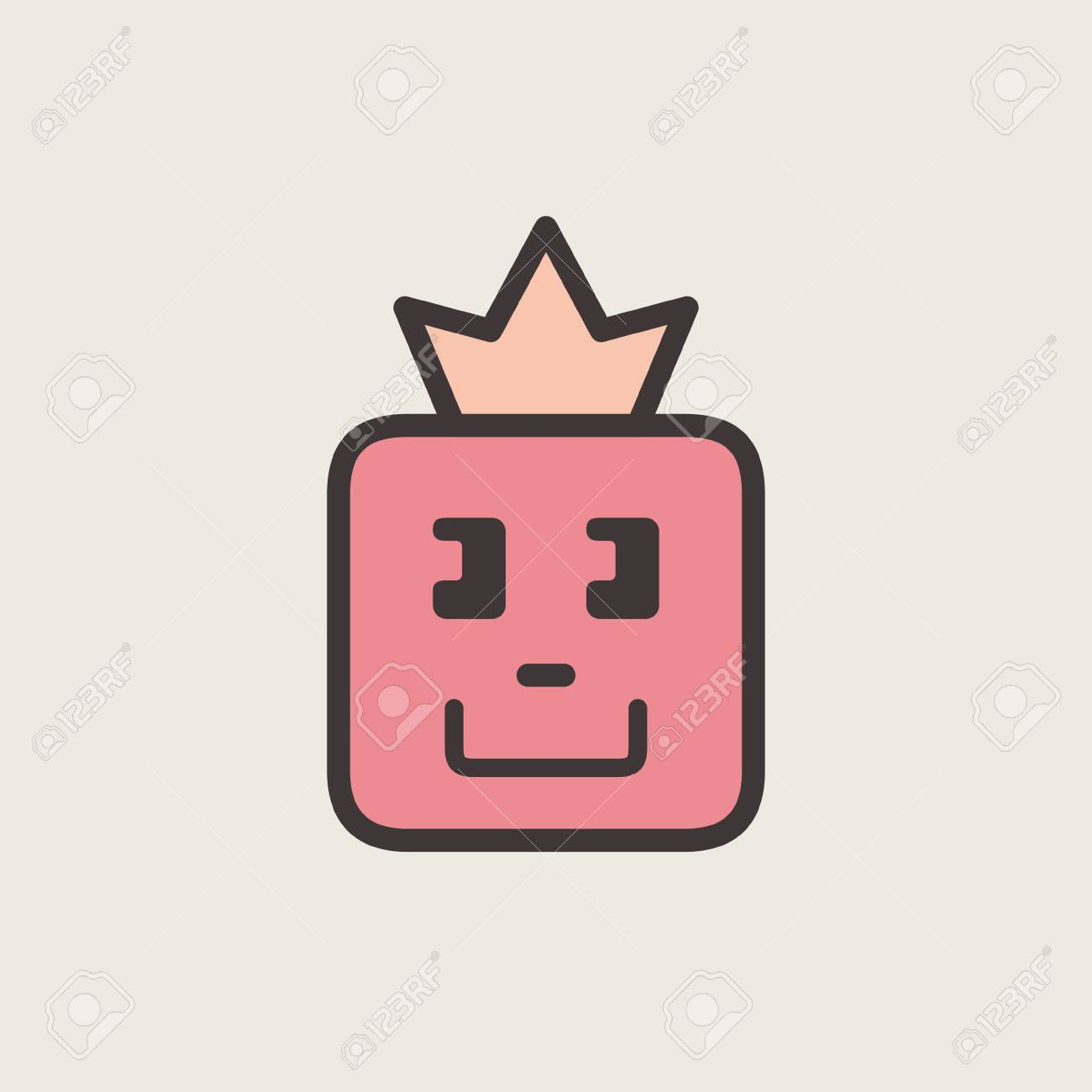 Graphic emoticon emoji face with a crown smile icons isolated graphic emoticon emoji face with a crown smile icons isolated vector illustration biocorpaavc Gallery