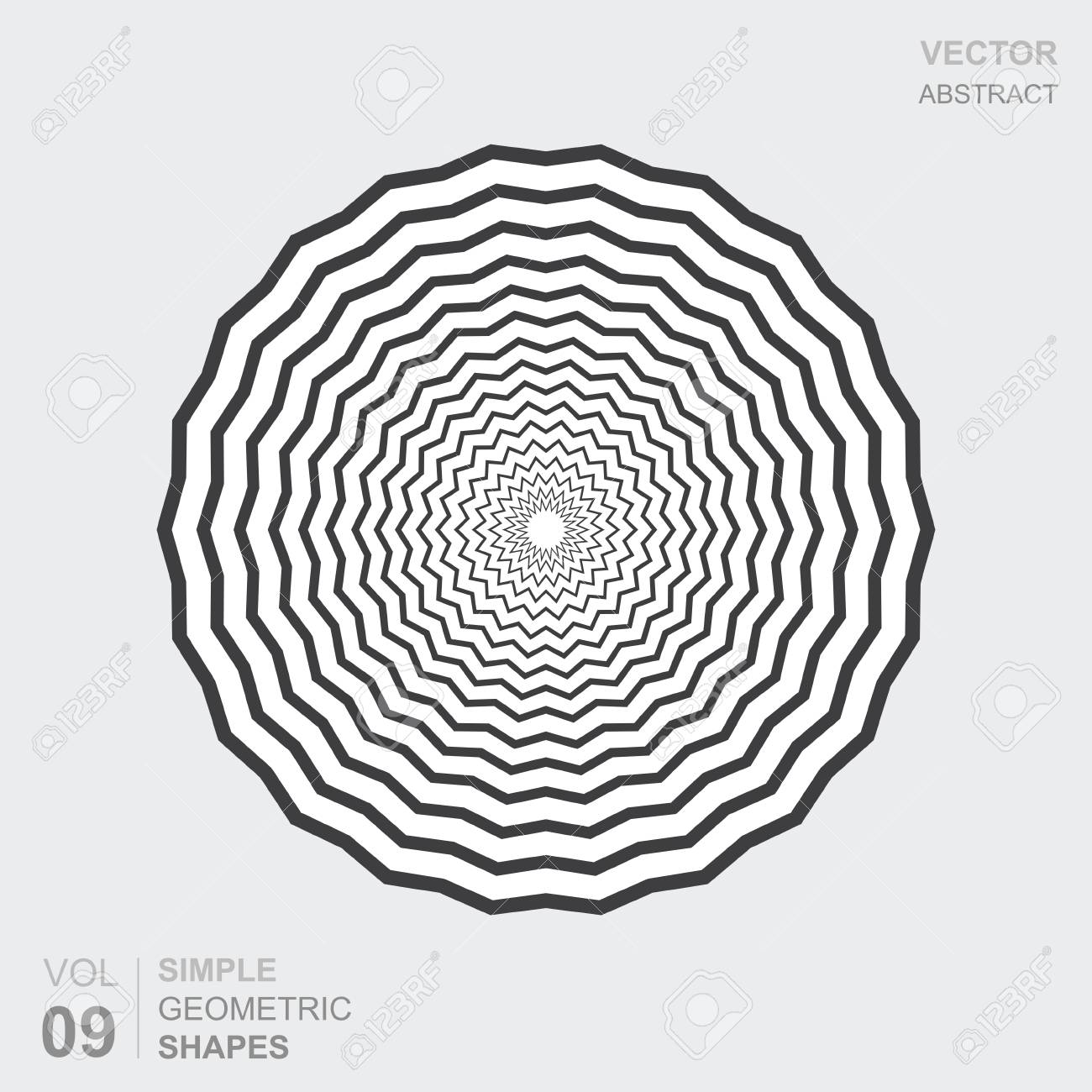 simple geometric figure of a beautiful shape in black and white