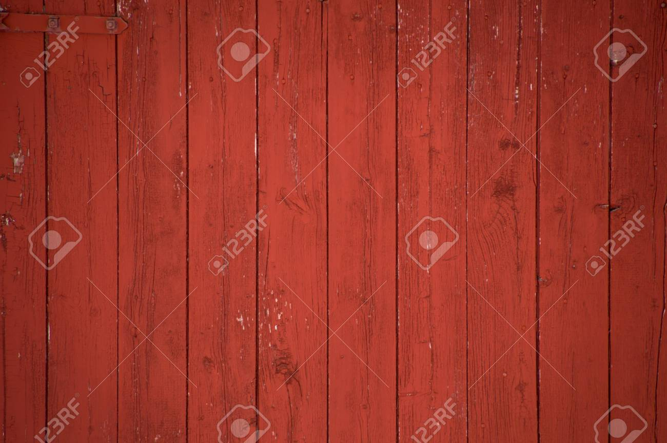 Stock Photo - Vertical oxblood red barn door boards and planks background. One red hinge. & Vertical Oxblood Red Barn Door Boards And Planks Background... Stock ...