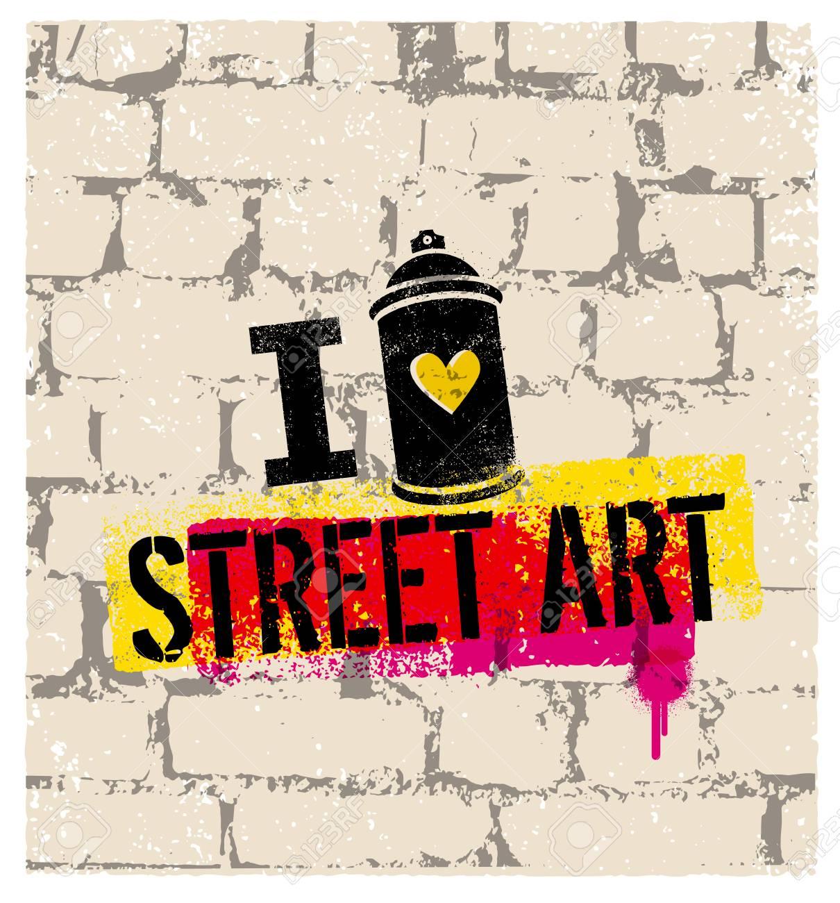 j'aime le concept d'affiche lumineuse vecteur street art créative