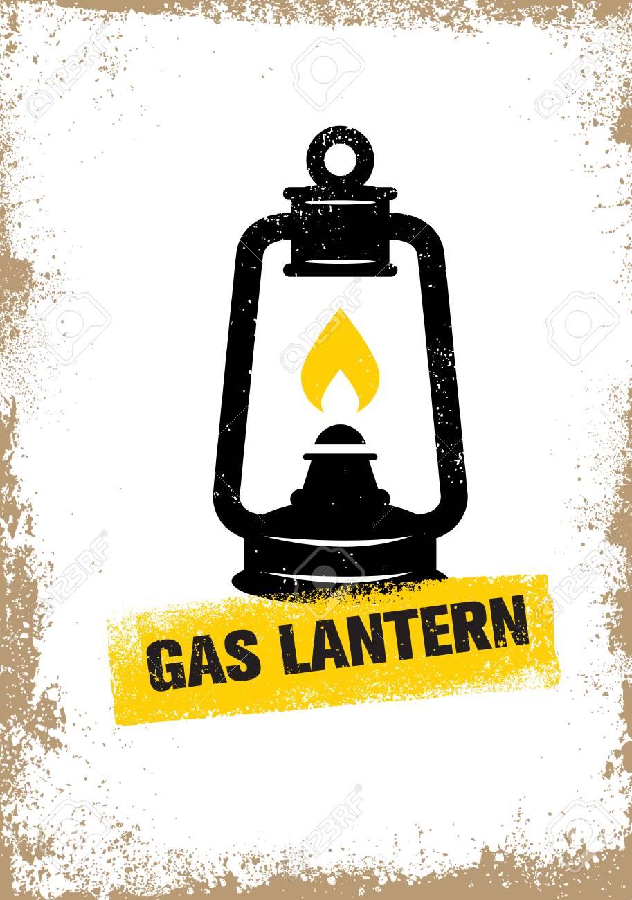 Hand Drawn Vintage Kerosene Lamp Sketch Oil Lantern Vector Illustration T
