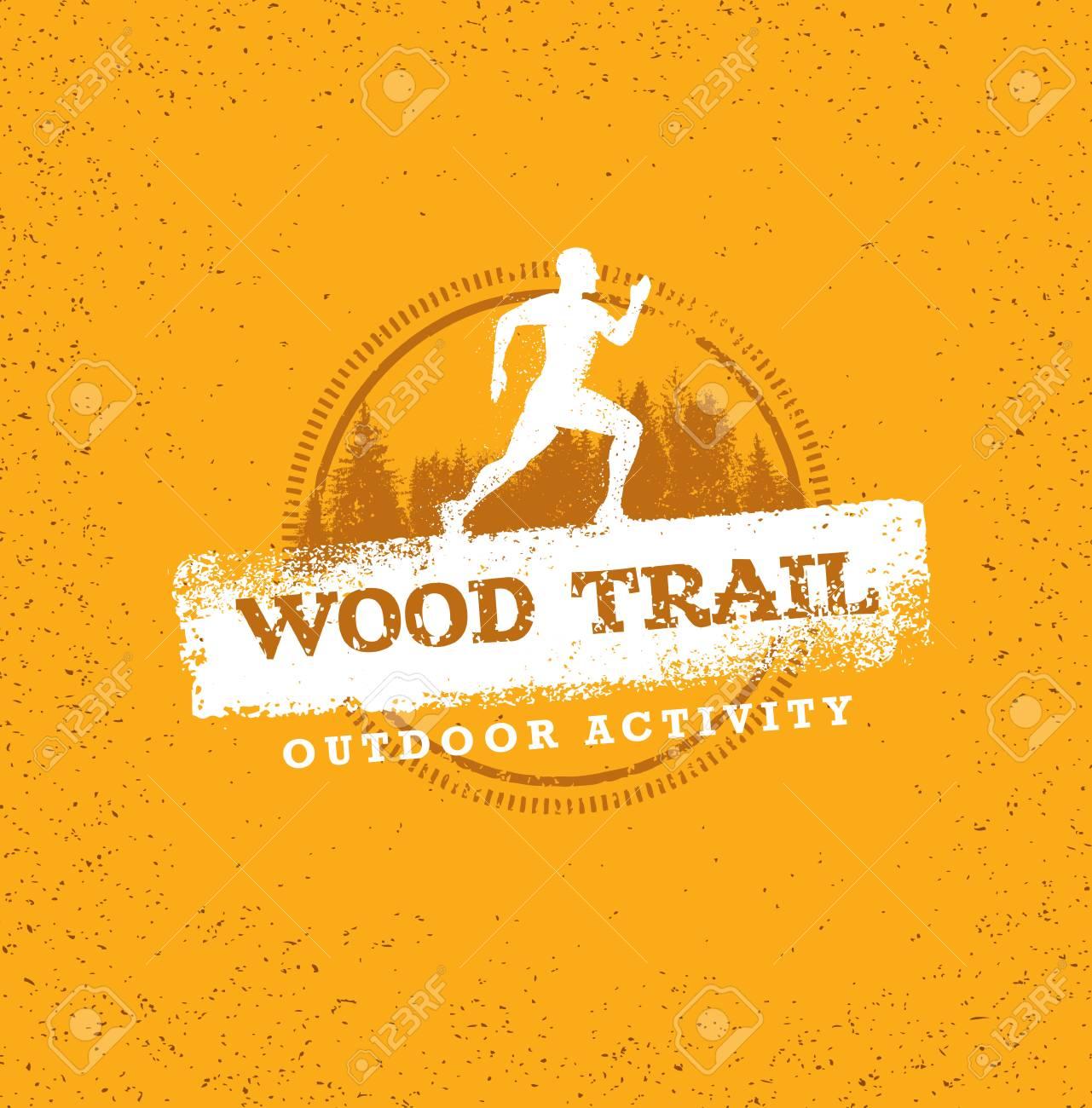 Mountain Adventure Sport Trail. Creative Vector Outdoor Concept on Grunge Background - 72316756