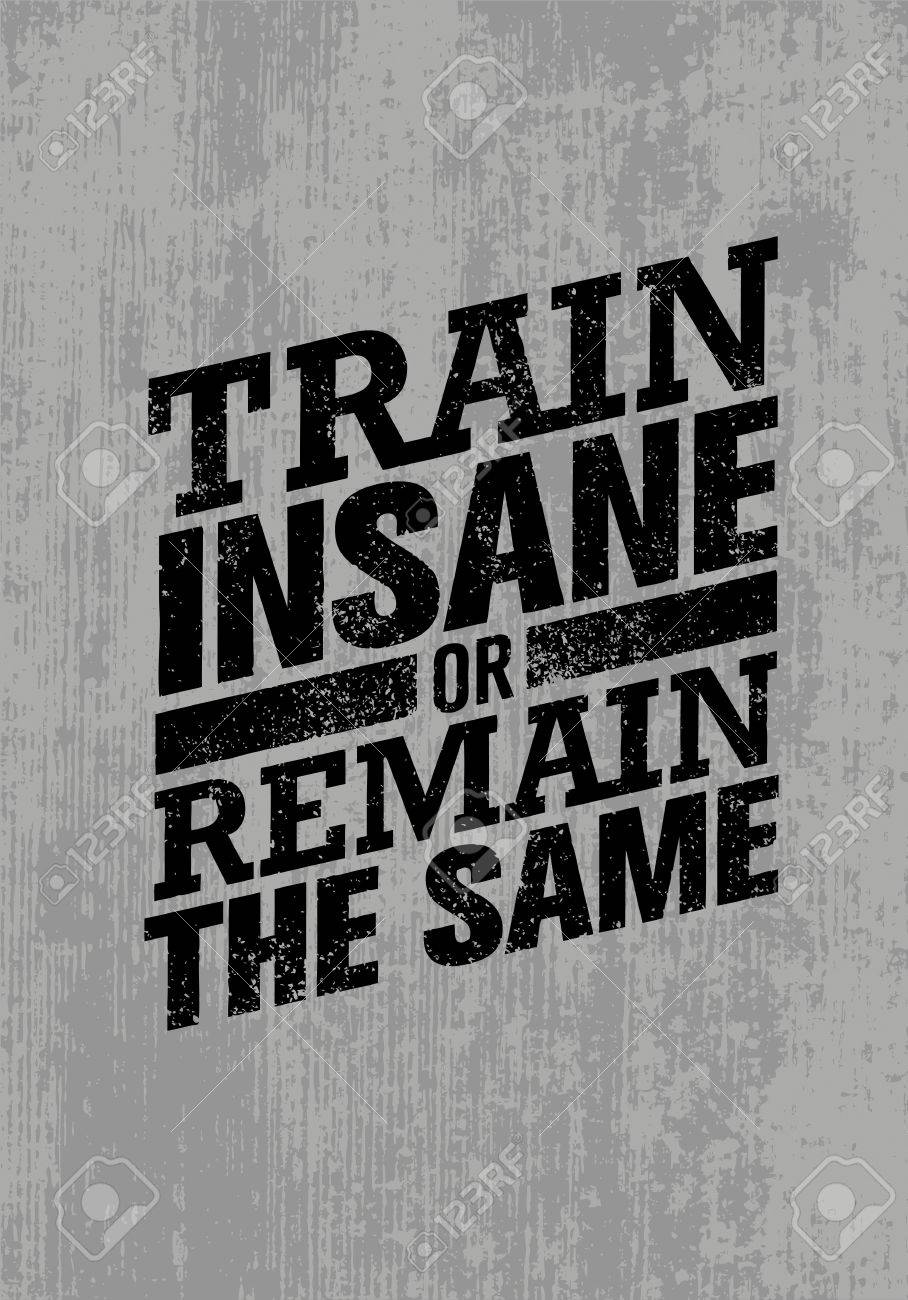 Train Insane Or Remain The Same Workout And Fitness Motivation