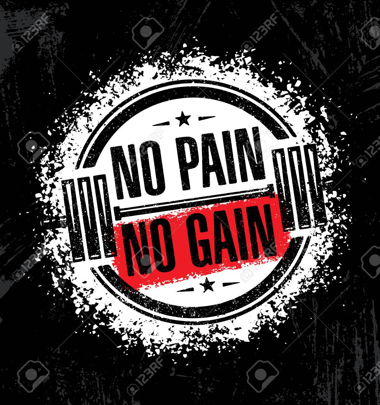 No Pain No Gain Inspiring Workout And Fitness Gym Motivation