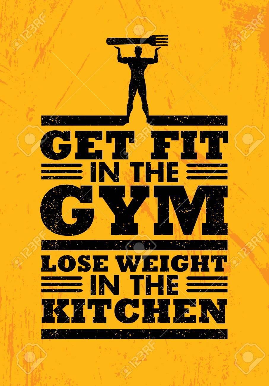 Holen Sie Sich Fit In Der Turnhalle Verlieren Gewicht In Der Küche ...