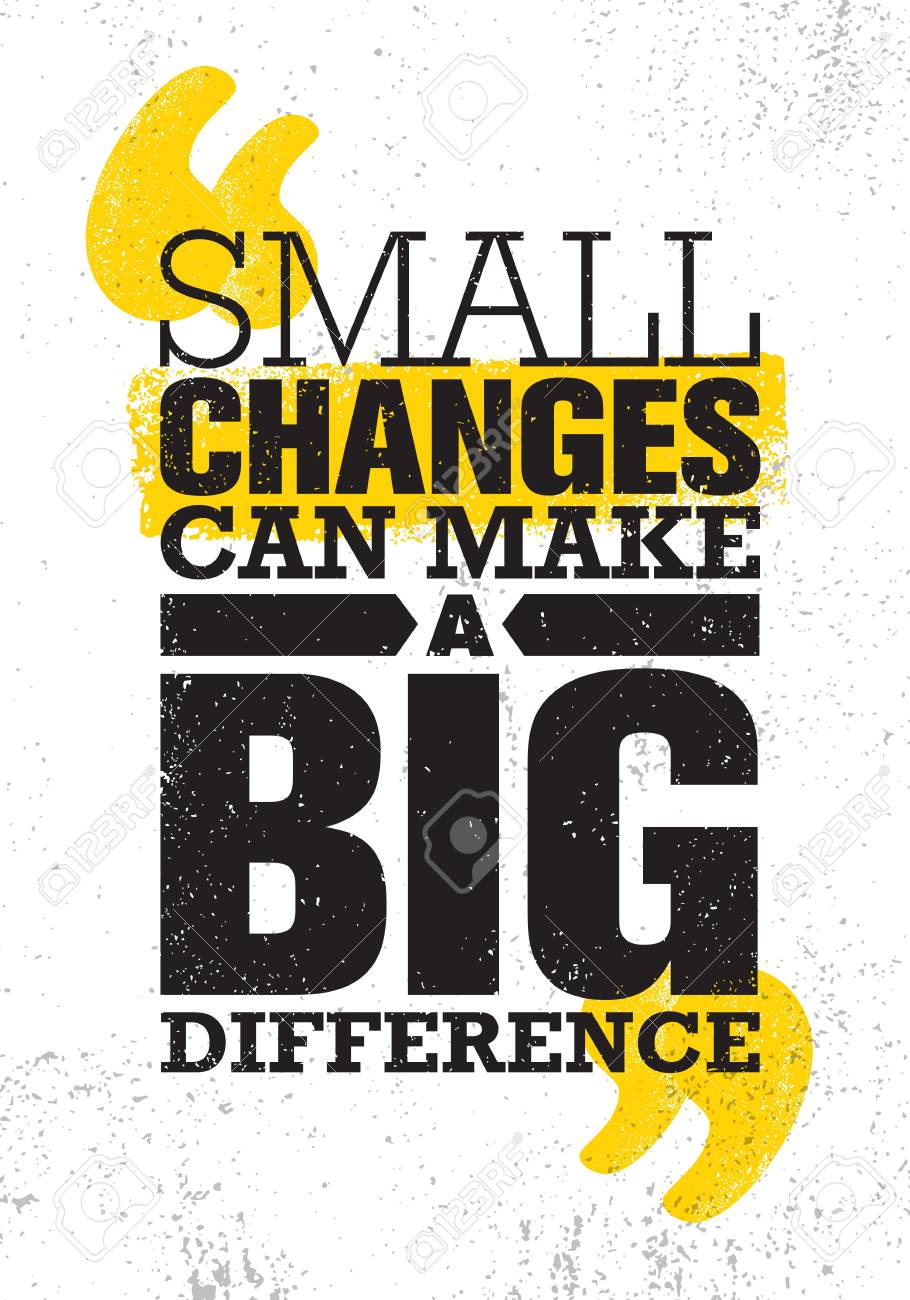 Small Changes Can Make A Big Difference. Inspiring Creative Motivation Quote Poster Template. Vector Typography - 100589953