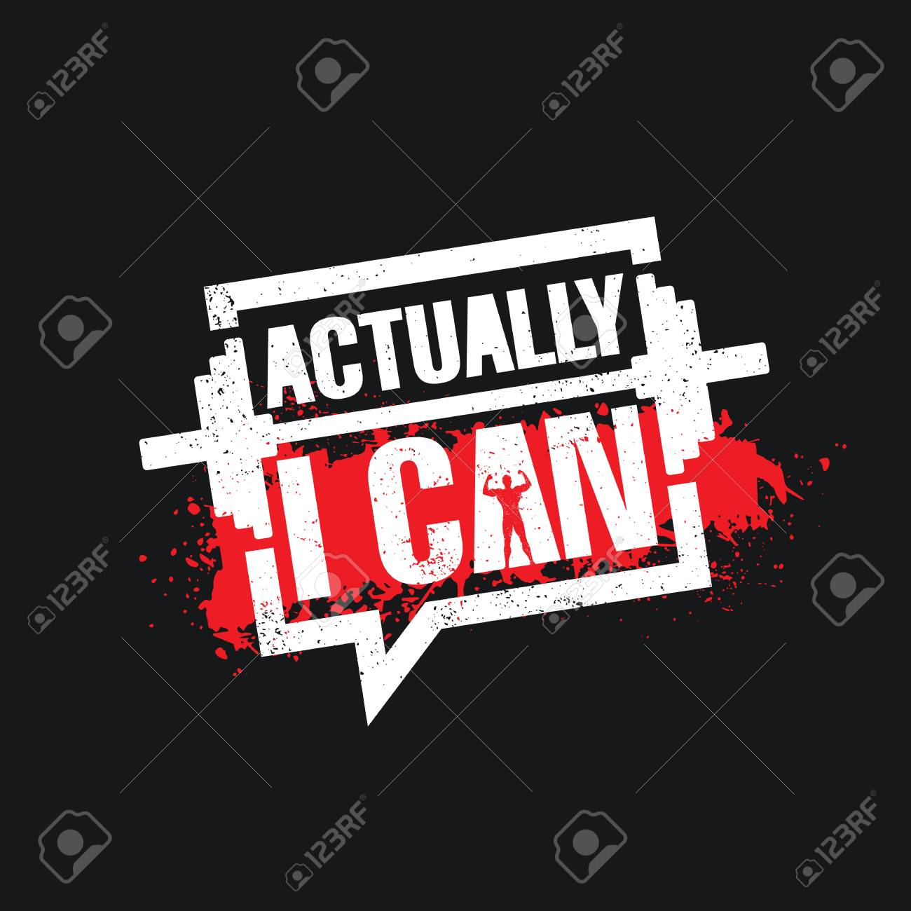 Actually I Can Inspiring Workout And Fitness Gym Motivation