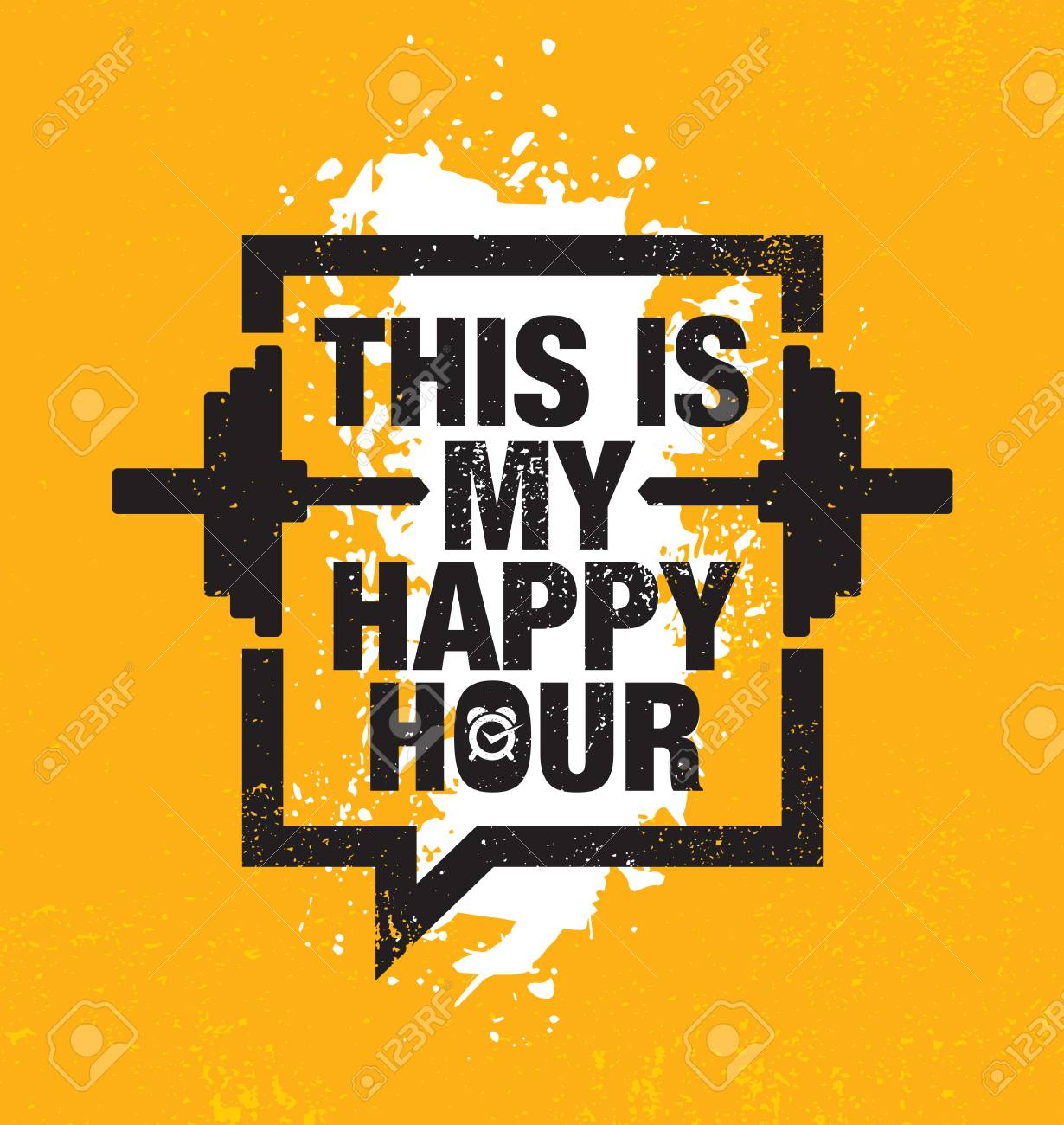 This Is My Happy Hour Fitness Gym Muscle Workout Motivation Stock Photo Picture And Royalty Free Image Image 110860030