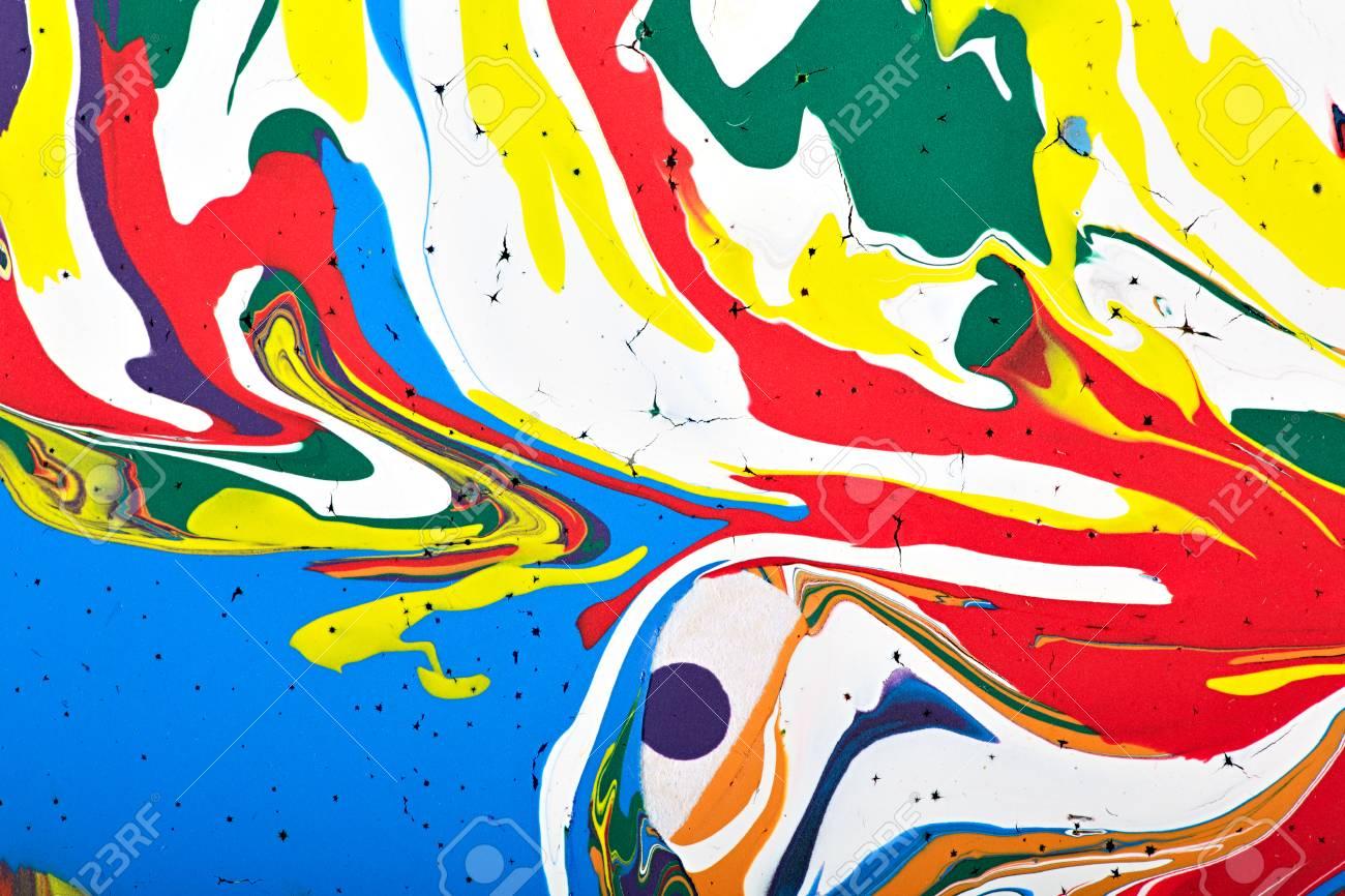 Résumé Fragment De Peinture Acrylique Moderne Texture Colorée Des