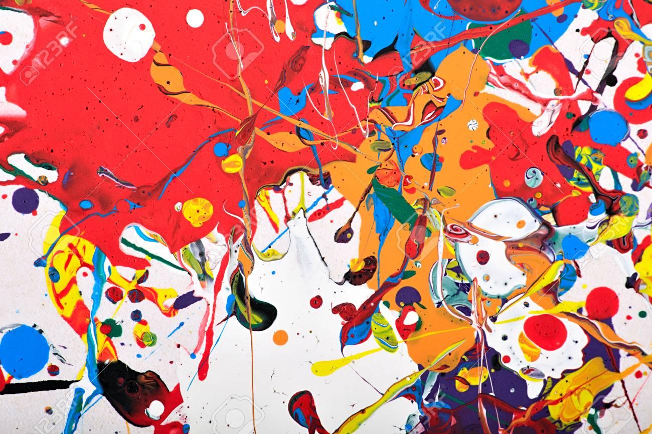 Peintures Modernes Colorées résumé acrylique fragment de la peinture moderne. arc en ciel coloré