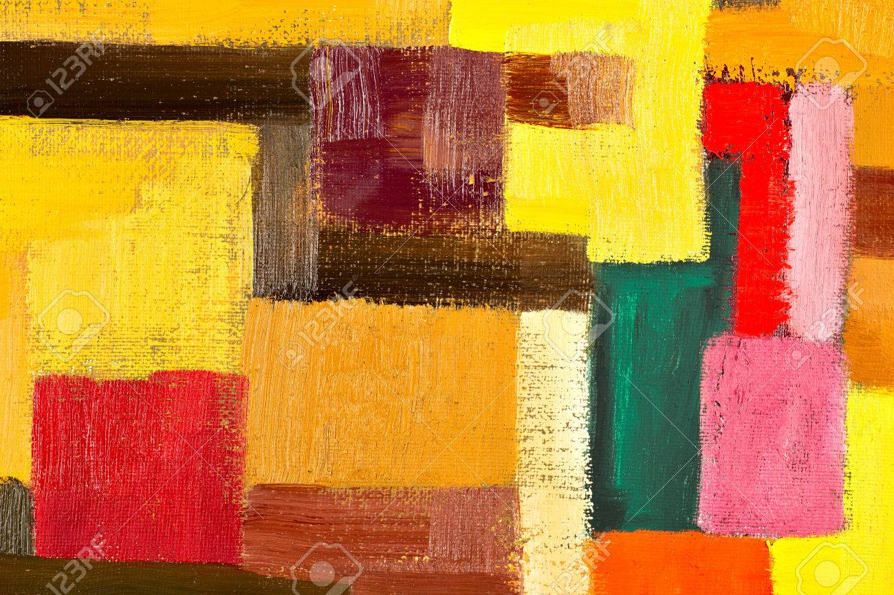 Abstract Texture Background Of An Original Oil Geometric Painting