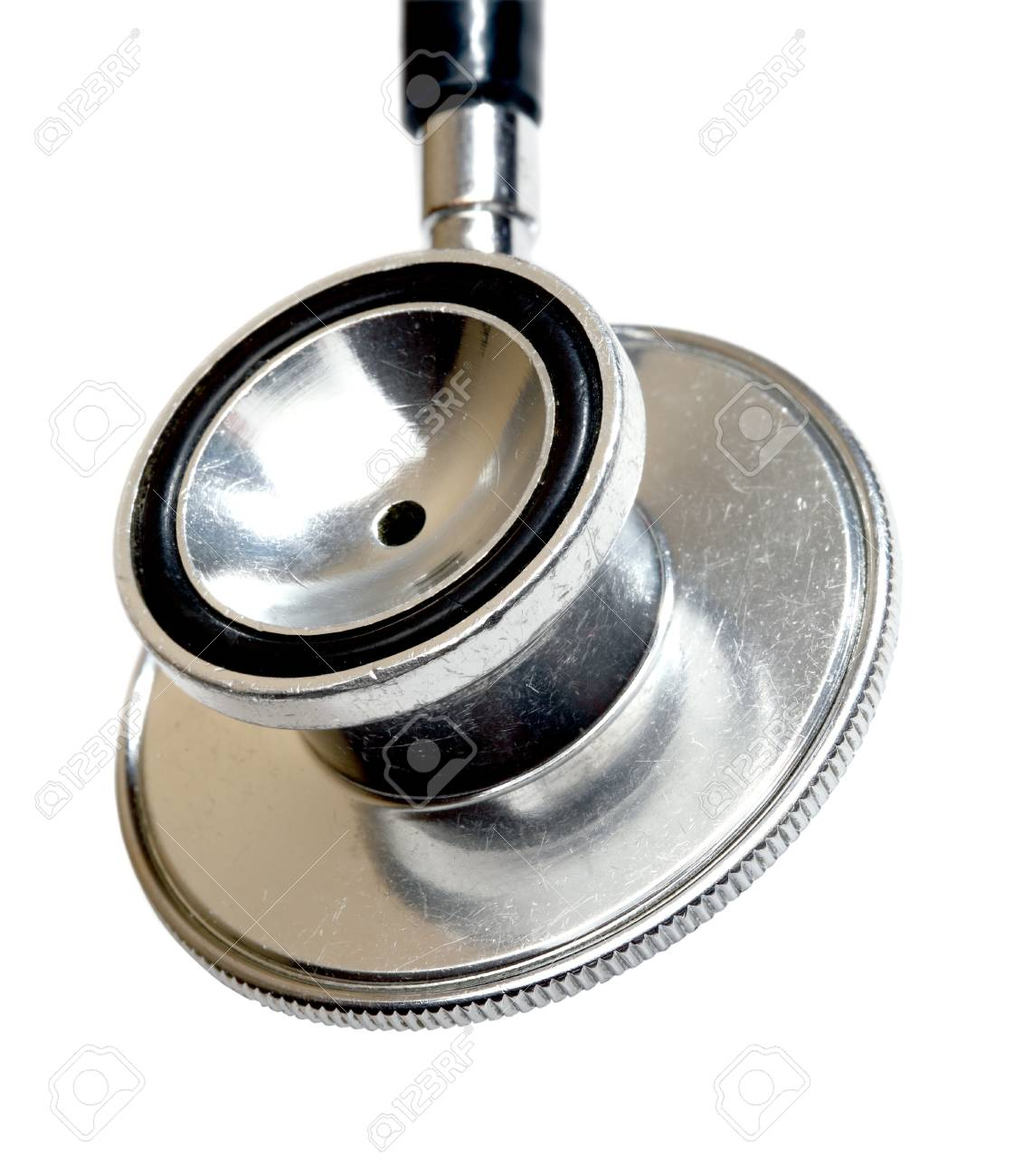Stethoscope close-up  Isolated on white Stock Photo - 15993395
