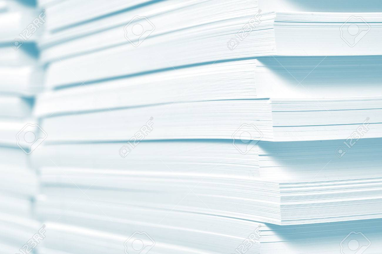 Reserve of paper in printing house. - 54221451