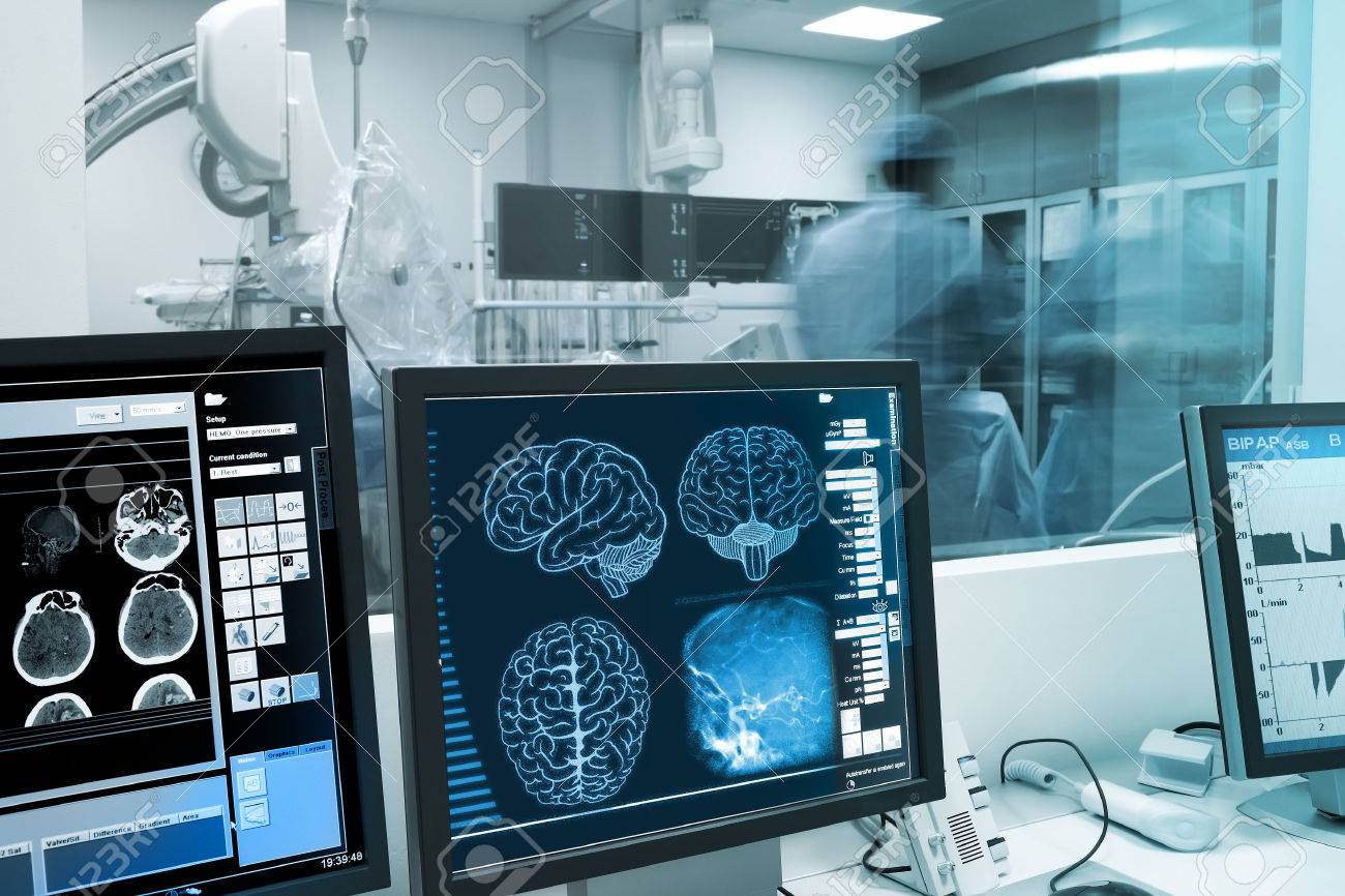 Study, visualization and practice with the human brain in x-ray laboratory. - 55908294