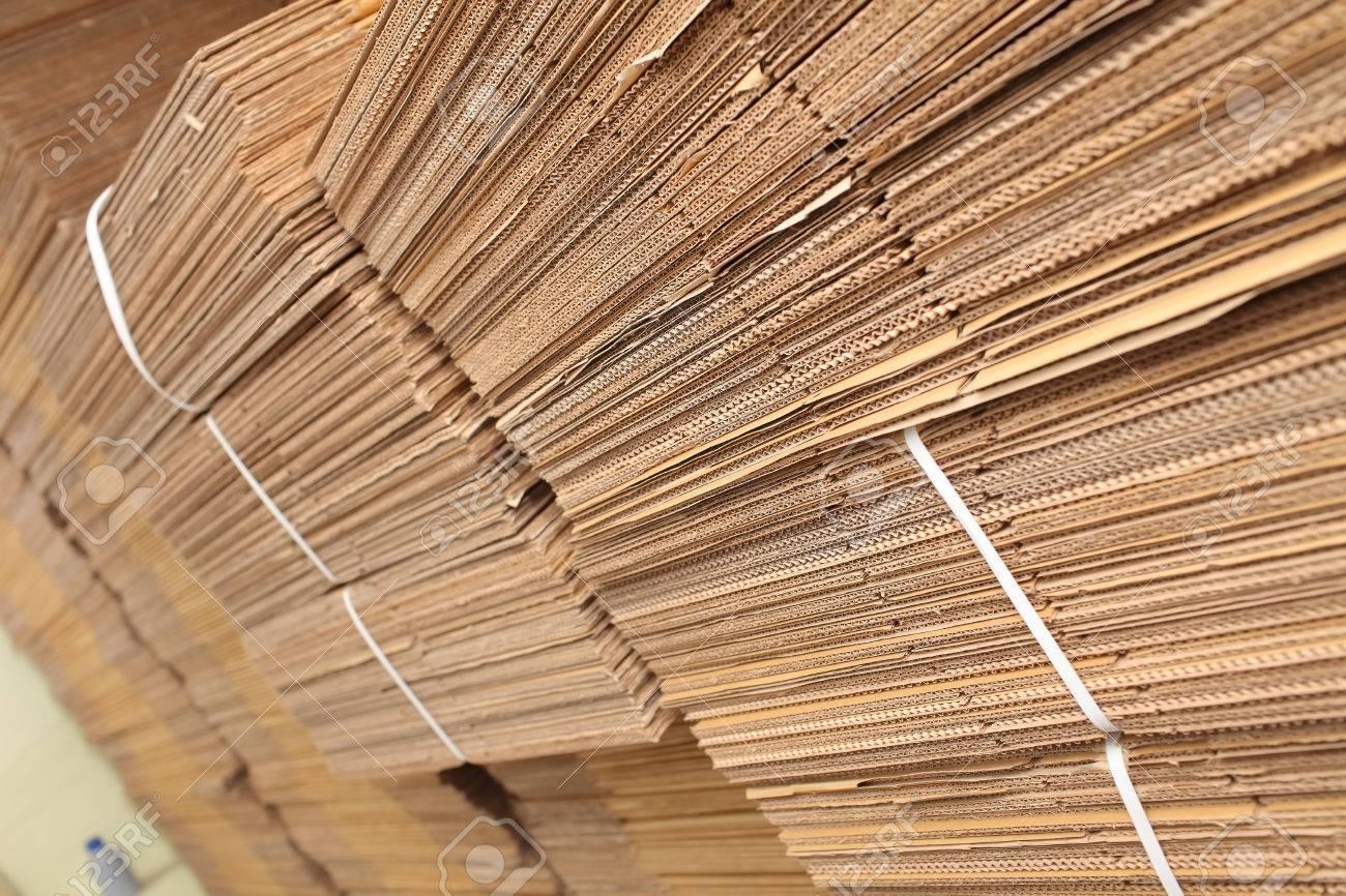 Stockpiles of cardboard in printing house. - 61178662
