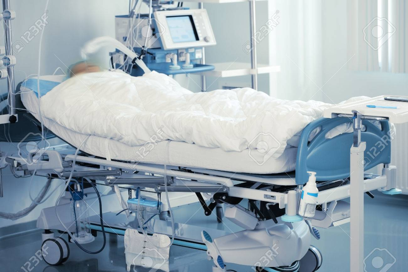 Monitoring of comatose patient in intensive care. - 63955434