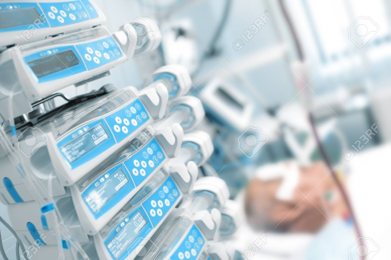 Comatose patient in the critical care unit. - 87792486