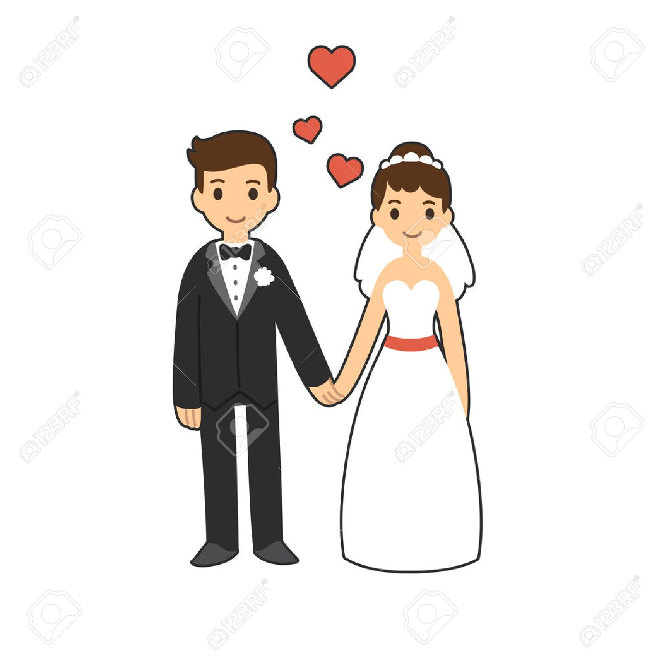 cute cartoon wedding couple holding hands royalty free cliparts rh 123rf com anime cartoon couple holding hands cartoon pictures of couples holding hands